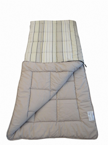 Sunncamp Grey Stripe Super King Size Thick Single Camping Sleeping Bag
